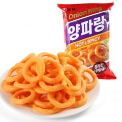 Salgadinho Coreano Cebola Apimentado Onion Flavored Rings Cebola Hot & Spicy- 40 gramas