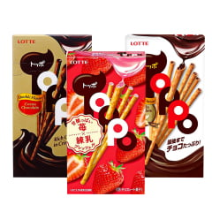 Kit de Biscoito Palito Japonês ToPPo  - 3 Sabores