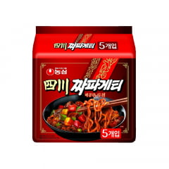 Kit Lamen Coreano Chapagetti Spicy Picante Nongshim - 5 Pacotes