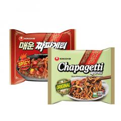 Kit Lamen Coreano Chapaghetti Nongshim Tradicional e Picante - 140 gramas