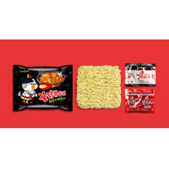 Kit Lamen Coreano Super Apimentado Buldak Hot Chicken Flavor Ramen 140g - 5 Pacotes
