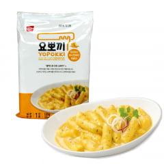 Yopokki Bolinho de Arroz Coreano Instantâneo sabor Molho de Cebola Cremosa Topokki Golden - 120 gramas
