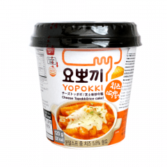 Yopokki Bolinho de Arroz Coreano Instantâneo sabor Queijo Topokki - Copo 120 gramas