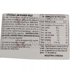 Lamen Coreano Mild Jin Ramen Ottogi Vegetais Suave - 120 gramas