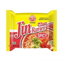 Lamen Coreano Picante Jin Ramen Ottogi Vegetais - 120 gramas