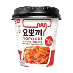 Yopokki Bolinho de Arroz Coreano Instantâneo sabor Original Sweet Spicy Topokki Copo 140 gramas