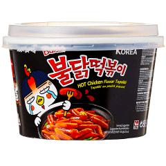 Massa de Arroz Coreano Super Picante Frango Topokki Buldak Copo - 185g