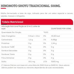 Molho de Soja Shoyu Hinomoto Tradicional - 500 mL