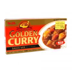 Tempero Golden Curry Amakushi com Sabor Suave Picante nível Fraco S&B - 220 gramas