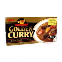 Tempero Golden Curry com Sabor Picante nível Forte S&B - 220 gramas
