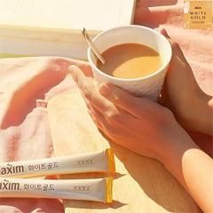 Café Pronto Solúvel Coffee Maxim Coreano White Gold - 100 Sachês