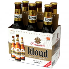 Kit Cerveja Coreana Kloud Premium 100% Malt Classic - 6 Unidades