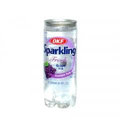 Bebida Coreana Gaseificada Sparkling OKF Sabor Uva - 250mL