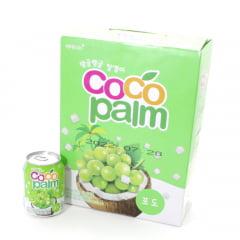 Caixa de Suco de Uva com pedaços de Coco CocoPalm Haitai - 238ml x 12unidades