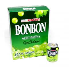 Caixa de Suco de Uva Verde com pedaços da fruta Bon Bon Haitai - 12 unidades