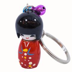 Chaveiro da boneca Japonesa Kokeshi - Vermelha