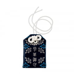 Omamori Amuleto Oriental Ideograma - Azul