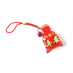Omamori Amuleto Oriental Ideograma Kanjis - Vermelho