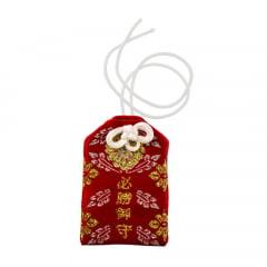 Omamori Amuleto Oriental Ideograma - Vermelho