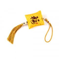Pendulo Chaveiro Oriental Kanji Sorte - Amarelo
