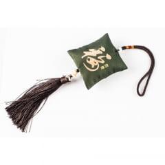 Pendulo Chaveiro Oriental Kanji Sorte - Verde