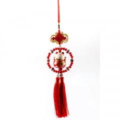Pêndulo Oriental Gato da sorte - Vermelho