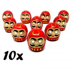 Kit Boneco Daruma Buda da Sorte D3 - 10 Unidades
