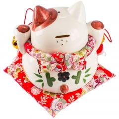 Gato da Sorte Grande Maneki Neko - 22cm