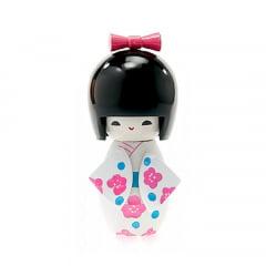 Boneca Japonesa Kokeshi  Branca (11cm) - KMBS1