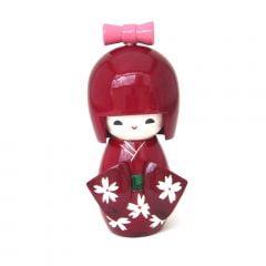 Boneca Japonesa Kokeshi  Vinho (11cm) - KMVM