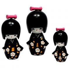 Trio Boneca Japonesa Preta - TKPS