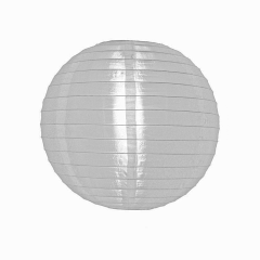 Luminária Oriental Branca Nylon - 20 cm