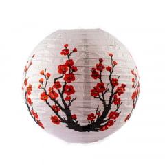 Luminária Oriental Branca Sakura 2 - 30 cm