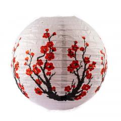 Luminária Oriental Branca Sakura 2 - 40 cm