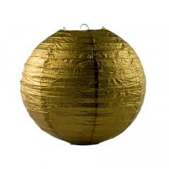 Luminária Oriental Dourada Lisa - 30cm