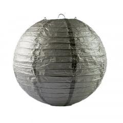 Luminária Oriental Prata Lisa - 30cm