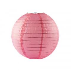 Luminária Oriental Rosa Claro Nylon - 30cm