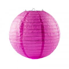 Luminária Oriental Rosa Pink Lisa - 30cm