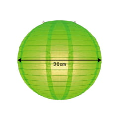 Luminária Oriental Verde Lisa - 30 cm