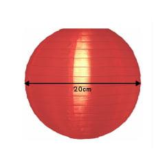 Luminária Oriental Vermelha Nylon - 20 cm