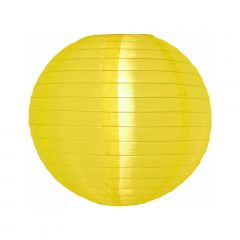 Luminária Oriental Amarela Nylon - 35 cm