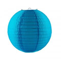 Luminária Oriental Azul Nylon - 30 cm