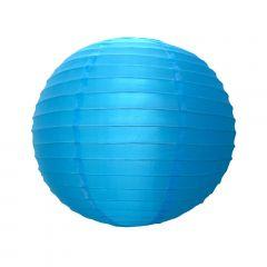 Luminária Oriental Azul Nylon - 35 cm