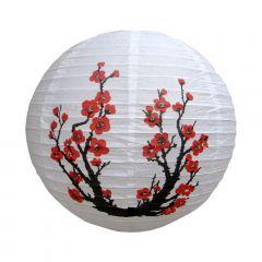 Luminária Oriental Branca Sakura - 40 cm