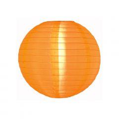 Luminária Oriental Laranja Nylon - 30 cm