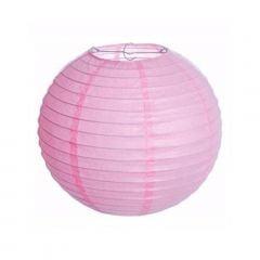 Luminária Oriental Rosa Claro Lisa - 30 cm
