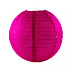 Luminária Oriental Rosa Pink Nylon - 30 cm