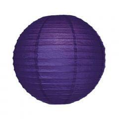 Luminária Oriental Roxa  Lisa - 40 cm