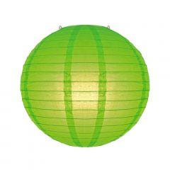 Luminária Oriental Verde Lisa - 35 cm