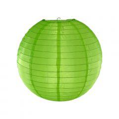 Luminária Oriental Verde Nylon- 30 cm